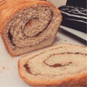 Cinnamon swirl bread made with extra sourdough starter