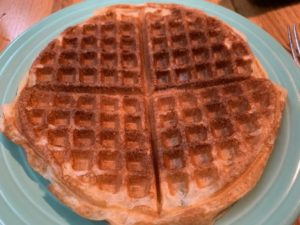 Waffles made with extra sourdough starter discard