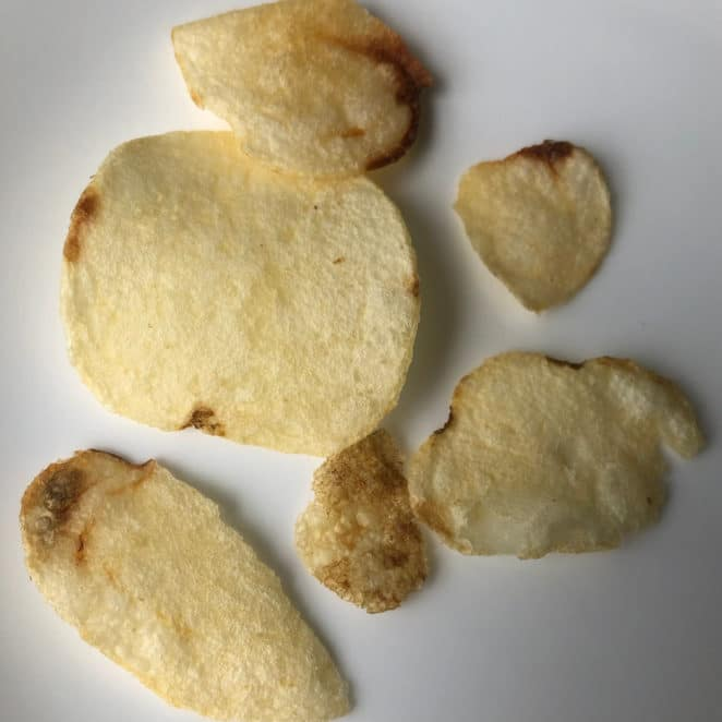 Brown spots on potato chips