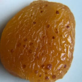 Brown speckles on apricot