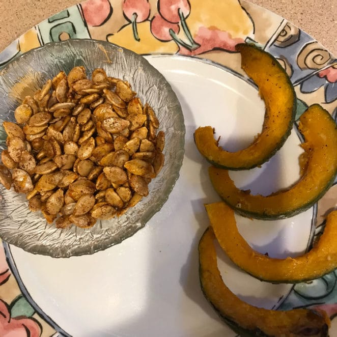Squash seeds were made for roasting