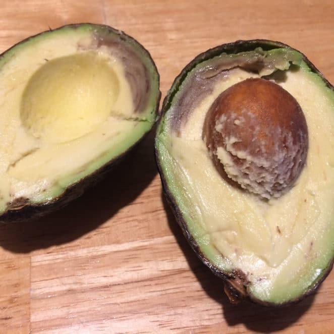 Brown inside avocado