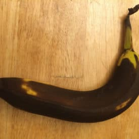 A very brown banana