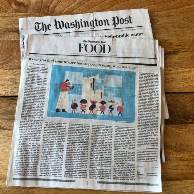 Freezer safety article in The Washington Post