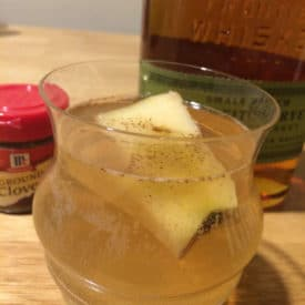 Cocktail with apple core shrub