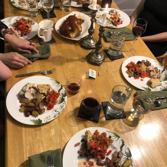 Dinner party without food waste