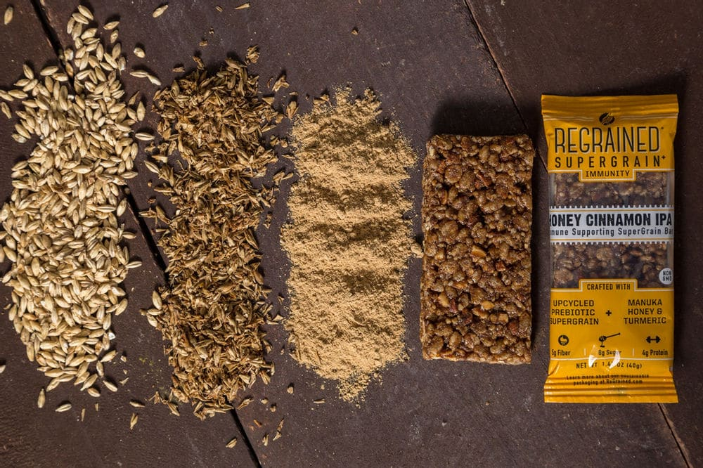 How grain goes from the beer making process to a ReGrained snack bar.