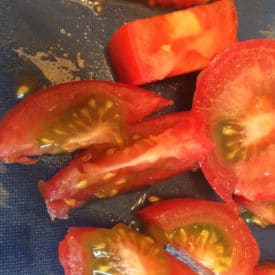 It's OK to eat tomatoes like these that are greenish on the inside