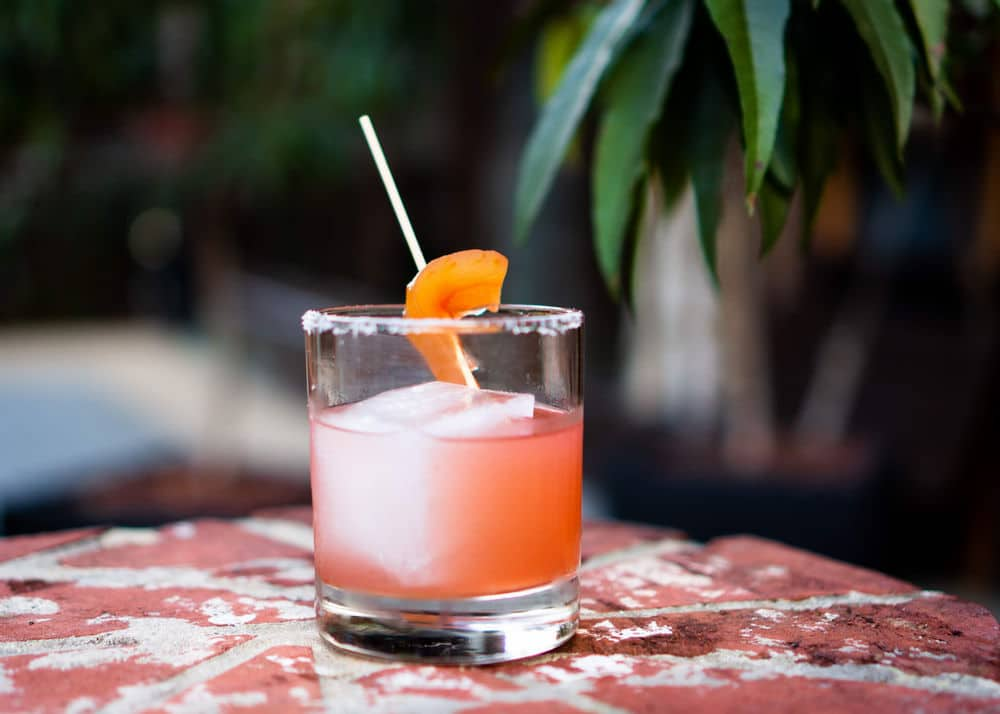 Summer Sandia cocktail made with pickled watermelon rind