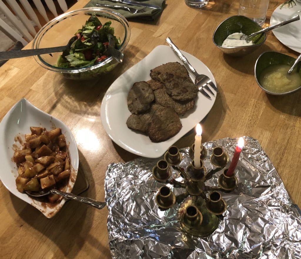 Hanukkah spread