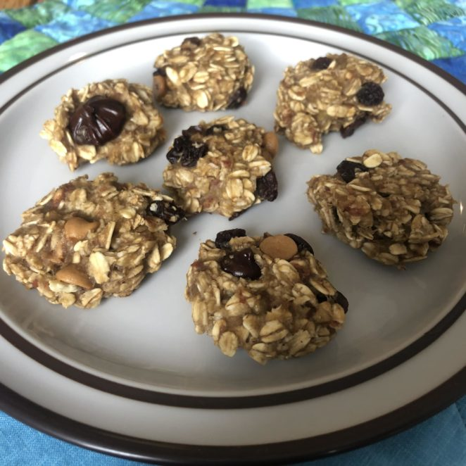 Cookies made with overripe bananas
