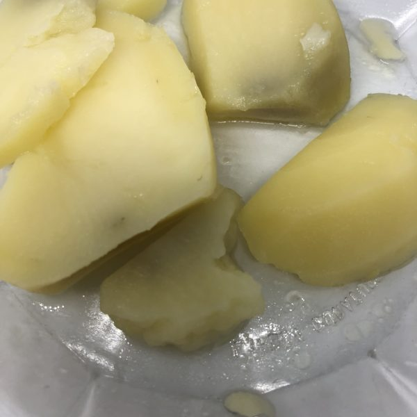 cooked potatoes turning gray